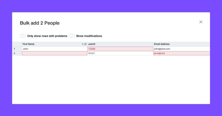 Portal Errors Screenshot